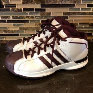 Adidas pro model fusion burgundy high tops